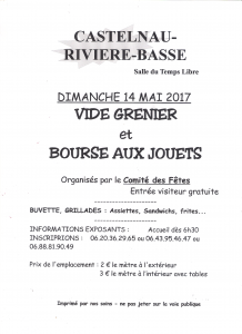 [:fr]Vide Grenier & Bourse aux Jouets[:] @ Salle du Temps Libre | Castelnau-Rivière-Basse | Occitanie | France