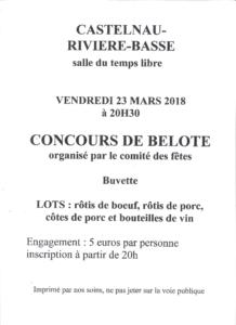 [:fr]Concours de Belote[:] @ Salle du Temps Libre | Castelnau-Rivière-Basse | Occitanie | France