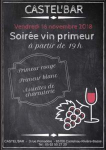 Soirée Vin Primeur @ Castel'Bar   Castelnau-Rivière-Basse   Occitanie   France