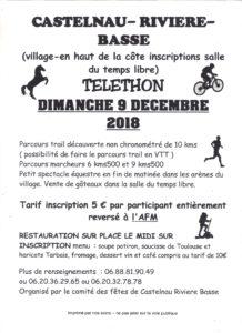 Telethon 2018 @ Salle du Temps Libre | Castelnau-Rivière-Basse | Occitanie | France