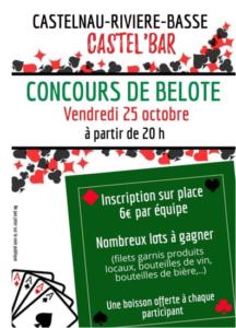 [:fr]Concours de Belote[:] @ Castel'Bar